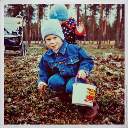 Fredrik Bergström as a child