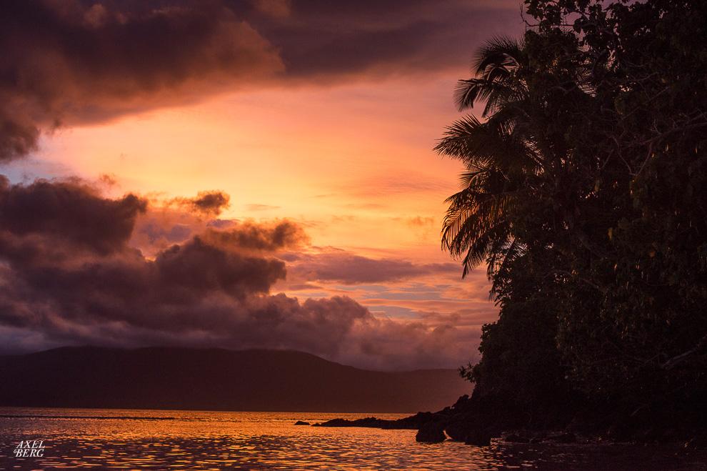 Sunset on Maqai Beach, Fiji