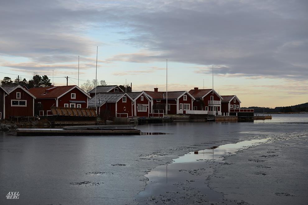 The winter is upon us at Spikarna on Alnö, Sundsvall